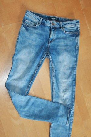 Adidas NEO Skinny jeans neon blauw Katoen
