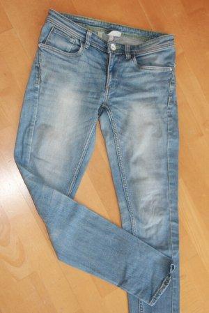 Adidas NEO Jeans skinny bleu azur coton