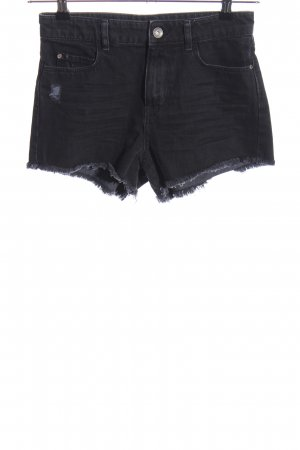 Adidas NEO Pantalón corto de tela vaquera negro look casual