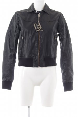 Adidas NEO Faux Leather Jacket black casual look