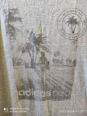 Adidas NEO Long Shirt light grey