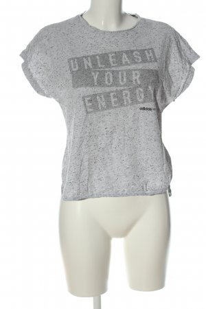 Adidas NEO Print Shirt light grey flecked casual look