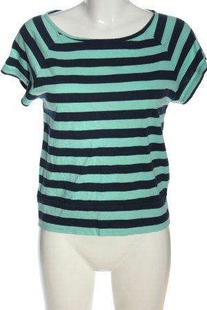 Adidas NEO Koszulka w paski turkusowy-niebieski Na całej powierzchni