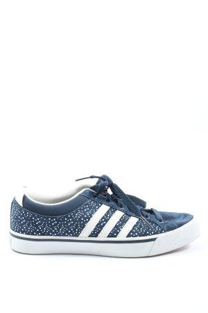 Adidas NEO Sznurowane trampki niebieski-biały Wzór w kropki W stylu casual