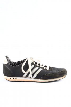 Adidas NEO Zapatilla brogue negro-blanco estampado a rayas look casual