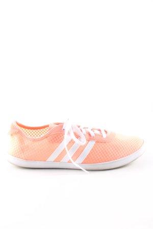 Adidas NEO Zapatilla brogue naranja claro-blanco estampado a rayas look casual