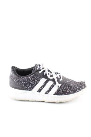 Adidas NEO Zapatilla brogue negro-blanco estampado a lunares look casual