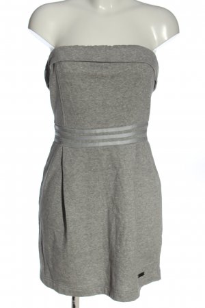 Adidas NEO Off-The-Shoulder Dress light grey flecked elegant