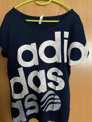 Adidas NEO T-shirt imprimé blanc-bleu foncé
