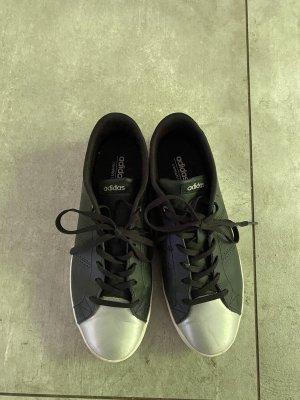 Adidas NEO Sznurowane trampki czarny-srebrny