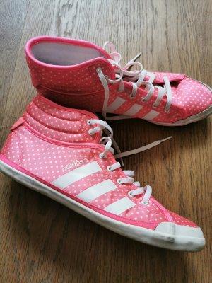 Adidas NEO Basket à lacet blanc-rose fluo