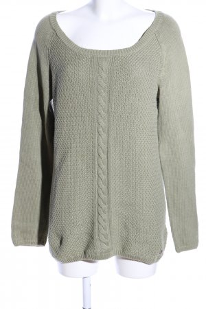 Adidas NEO Strickpullover khaki Zopfmuster Casual-Look