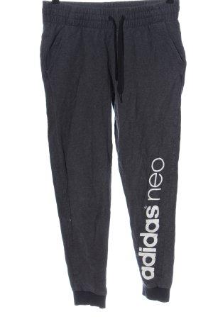 Adidas NEO Sweathose hellgrau meliert Casual-Look