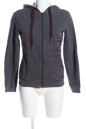 Adidas NEO Veste sweat gris clair moucheté style décontracté