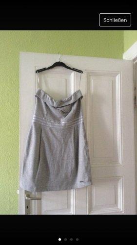 Adidas NEO Vestido de tela de sudadera gris claro