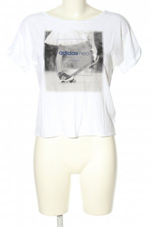 Adidas NEO T-shirt Nadruk z motywem W stylu casual