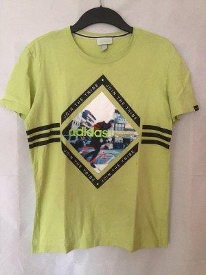 ADIDAS NEO T-Shirt in neongrün Jungen Gr. S