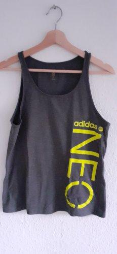 Adidas NEO Camiseta sin mangas gris-verde neón