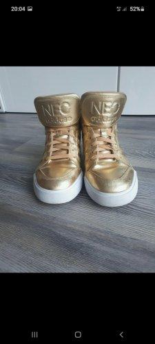 Adidas NEO Wysokie trampki biały-złoto