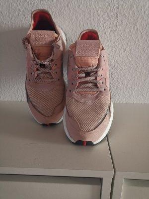 Adidas Sznurowane trampki stary róż-różany