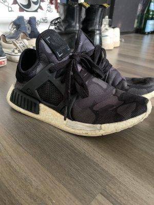 Adidas NMD Sznurowane trampki czarny-antracyt