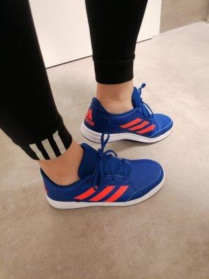Adidas Sznurowane trampki pomarańczowy-niebieski