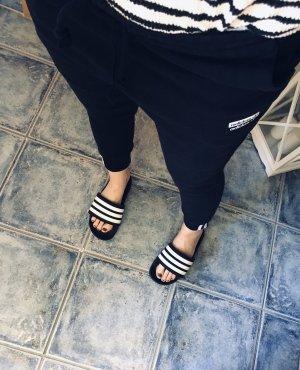 Adidas Pantalon de jogging noir-blanc