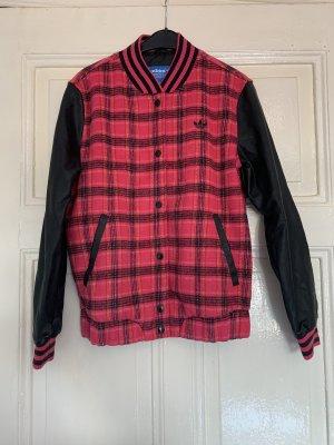 Adidas Originals Blouson universitaire noir-rouge framboise
