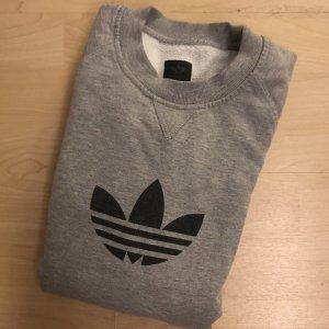 Adidas Originals Sweter z okrągłym dekoltem szary