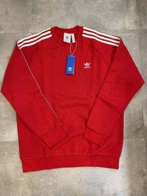 Adidas Sudadera de forro rojo
