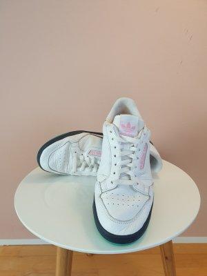 Adidas Originals Sznurowane trampki biały-turkusowy