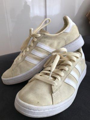 Adidas Originals Sznurowane trampki jasnożółty-biały Skóra