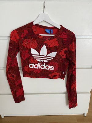 Adidas Originals Crop-top rouge-blanc