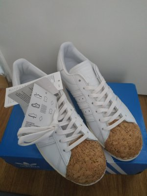 adidas Originals Damen Superstar 80s Cork Sneakers Weiß Gr. 38