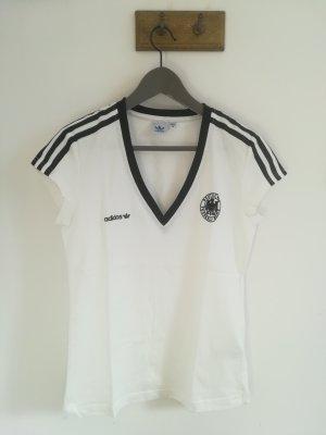 Adidas Originals T-shirt de sport blanc-noir coton