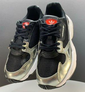 Adidas Originals Sneakers met veters zwart-goud Nylon