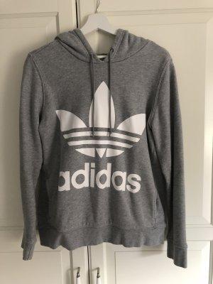 Adidas Originals Sweatshirt met capuchon lichtgrijs-wit