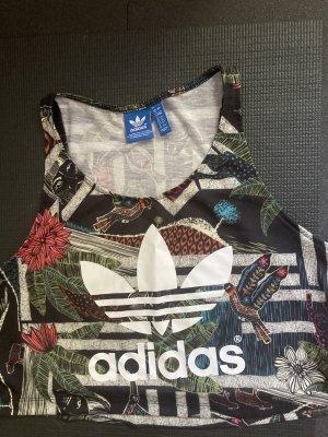 Adidas Originals Limited Edition shirt top Duschgel khaki print Muster xs cropped Training