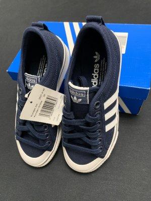 Adidas Originals Basket à lacet bleu foncé-blanc