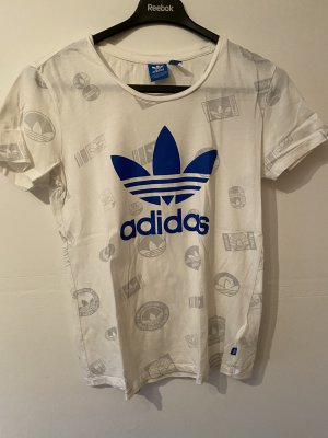 Adidas Originals Print Shirt white-blue