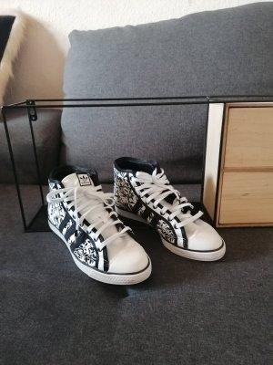 Adidas Originals Zapatilla brogue negro-blanco tejido mezclado
