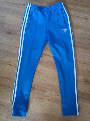 Adidas Originals Spodnie sportowe biały-niebieski neonowy