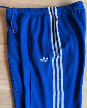 Adidas Originals Pantalone da ginnastica blu-bianco