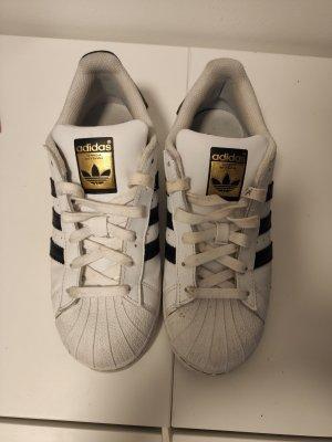 Adidas Originals Sznurowane trampki biały-czarny