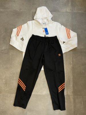 Adidas Sudadera de forro negro-blanco