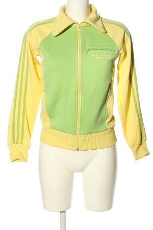 Adidas Originals Sweatjacke blassgelb-grün Casual-Look