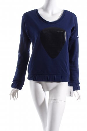 Adidas Originals Sweatshirt donkerblauw-wit prints met een thema