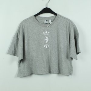 ADIDAS ORIGINALS T-Shirt Gr. 34 grau/weiß cropped  (21/01/047*)