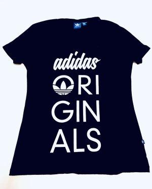 ADIDAS ORIGINALS T-Shirt Gr. S/M 36 38 40 schwarz weiß Logo