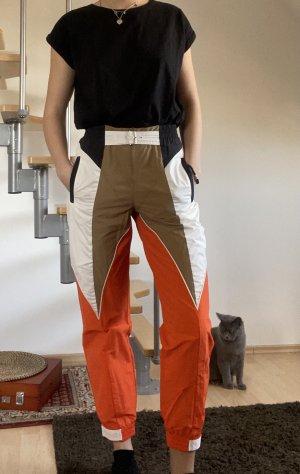 Adidas Hoge taille broek oranje-wit